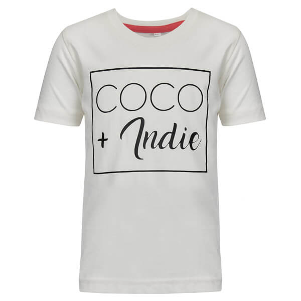 coco and indie kids logo t-shirt white