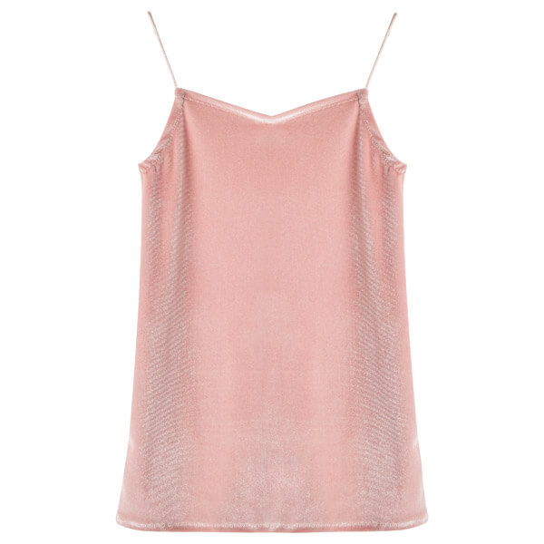 velvet Coco slip dress peach