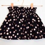 Disco Dotty Bagtop Skirt in Black