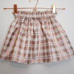 Rose Gold Plaid Bagtop Skirt
