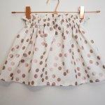 Disco Dotty Bagtop Skirt in Cream