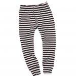 Black & Nude Ribbed Striped Cuffed Leggings