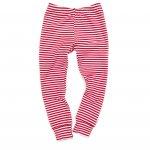 Red & White Striped Cuff Leggings